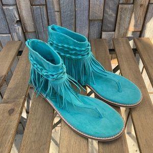 Coconut by Matisse Aqua Juno Sandals Sz 9  S1005